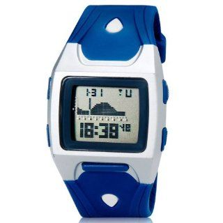 Unisex Shors Sh 777 30 M Square Dial Waterproof LED Digital Watch Blue M.