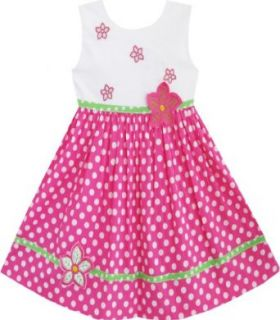 Girls Dress Pink Dot Flower Embroidered Sundress Size 2 6 Playwear Dresses Clothing