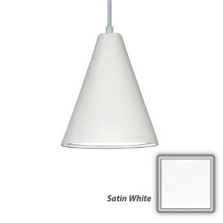 "A19 P802 A31 Satin White Islands of Light Contemporary / Modern ""Gotlandia"" Single Light Pendant from the Islands of Light Collection   Ceiling Pendant Fixtures"