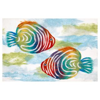 Trans Ocean Import Co Liora Manne Rainbow Fish Indoor/Outdoor Doormat   Outdoor Doormats