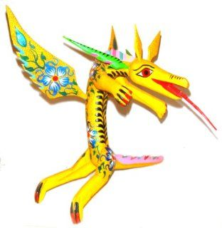 Mexican Folk Art Oaxaca Alebrije Wood Carving Dragon Hand Painted Signed  Other Products