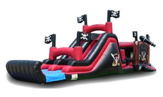 EZ Inflatables Pirate Theme Combo Bounce House   Commercial Inflatables