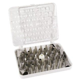 Ateco 783 55 Piece Stainless Steel Pastry Tube Decorating Set (August Thomsen) Kitchen & Dining