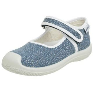 Primigi Lou E Canvas Mary Jane (Infant/Toddler), Blue, 24 EU (7.5 M US Toddler) Shoes
