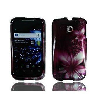 Feather Flower Faceplate Hard Shell Cover Phone Case Huawei Ascend 2 M865 M865C (Cricket/US Cellular) / Huawei Prism U8651 (T Mobile) + Free Screen Guard Cell Phones & Accessories