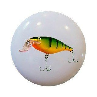FISHING LURE Ceramic Knobs Pulls Kitchen Drawer Cabinet Vanity Closet 809   Cabinet And Furniture Knobs