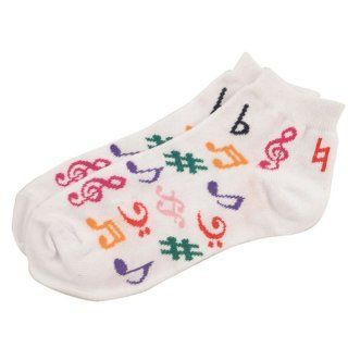 Womens Music Note Ankle Socks (Size 9 11) Toys & Games