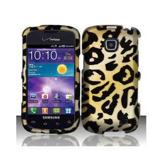 Yellow Cheetah Hard Cover Case for Samsung Illusion SCH i110 Cell Phones & Accessories