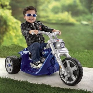 Fisher Price Power Wheels Power Wheels Harley Davidson Battery Powered Riding Toy   Blue   Battery Powered Riding Toys