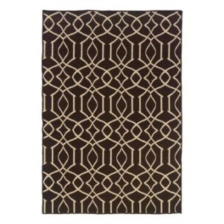 Linon Salonika Irongate Area Rug   5 x 8 ft.   Area Rugs