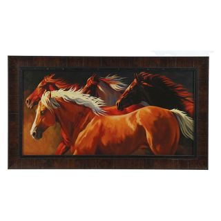 4 Red Horses Framed Wall Art   41.5W x 23.5H in.   Framed Wall Art