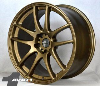 "19"" Avid1 AV10 5x114.3 (Matte Bronze) 19x8.5 +20 & 19x9.5 +15 Set of 4 Staggered Wheels Automotive"