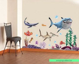 Finding Nemo Wall Stickers Sharks and Fish's Sea flowers Removable Children/kids Home   Decors Mural Art Nursery Decal NEW (Decowall stickers)