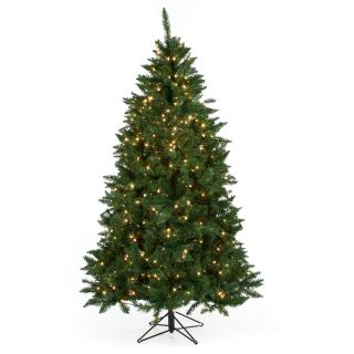 7 ft. Heritage Pine Pre Lit Christmas Tree   Christmas Trees