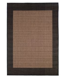 Couristan Recife Checkered Field Indoor/Outdoor Area Rug   Cocoa/Black   Area Rugs