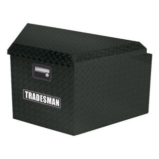Tradesman Aluminum Trailer Tongue Box   Black   Truck Tool Boxes