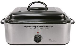 Sivan Health and Fitness Top Massage Large Professional Hot Stone 18 Quart Heater   Massage Tables