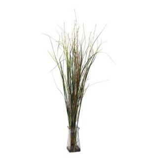 Grass & Bamboo with Glass Vase Silk Plant   Silk Plants