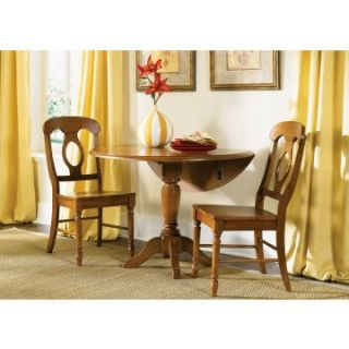 Liberty Furniture Low Country Bronze 3 pc. Drop Leaf Table Set with Napoleon Chairs   Dining Table Sets