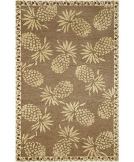 TransOcean Tommy Bahama Cargo Pineapple Indoor/Outdoor Area Rug   Neutral   Rugs