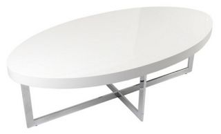 Euro Style Oliver Coffee Table   White   Coffee Tables