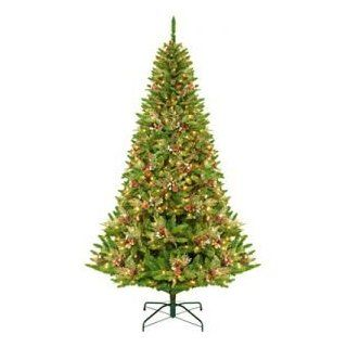 9' Pre Lit Green River Spruce Medium Artificial Christmas Tree   Clear Lights