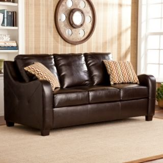 Southern Enterprises Caldwell Stationary Sofa   Chocolate   Sofas