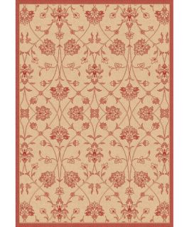 Dynamic Rugs Piazza Parisian Indoor/Outdoor Area Rug   Natural/Red   Area Rugs
