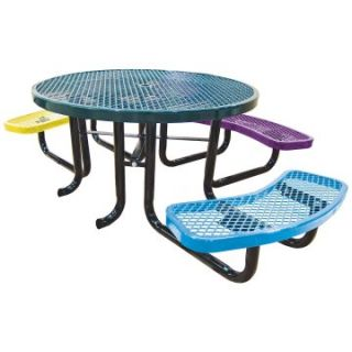Leisure Craft Childrens Round Accessible Picnic Table   Picnic Tables