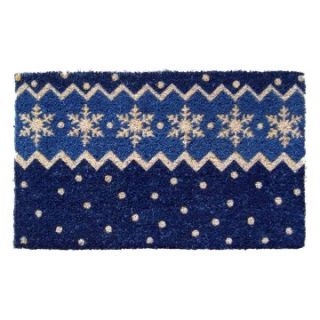 Snow Pattern Hand Woven Coconut Fiber Doormat   Outdoor Doormats
