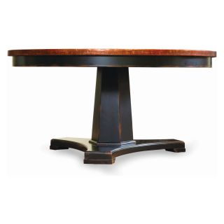 Sanctuary 60 in. Copper Top Round Pedestal Dining Table   Ebony & Copper   Dining Tables