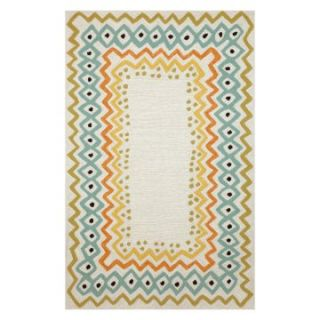 Trans Ocean Import Co Capri Ethnic Border Indoor / Outdoor Rugs   Area Rugs