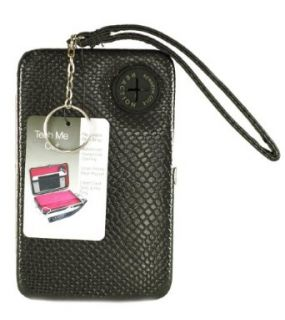 Kenneth Cole Reaction Womens Hard Iphone/smart Phone Wristlet Wallet/clutch Style 104981/809 (Black) Clothing