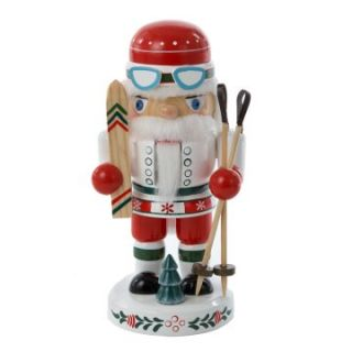 Kurt Adler Wooden Skiing Nutcracker Table Piece   Nutcrackers