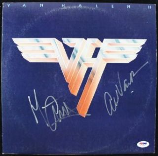 ALEX VAN HALEN & MICHAEL ANTHONY SIGNED ALBUM COVER W/ VINYL CERTIFICATE OF AUTHENTICITY PSA/DNA #T76227 Entertainment Collectibles