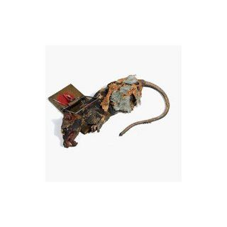 Animated Dead Rat in Wood Trap Halloween Prop