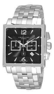 Hamilton Men's H32666135 Jazzmaster Black Square Chronograph Dial Watch Hamilton Watches