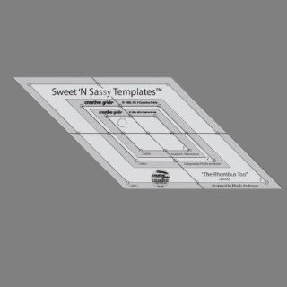 Creative Grids Sweet 'N Sassy Rhombus Too Templates Set of Three Nested Diamond Shaped Rulers (CGRPA2)