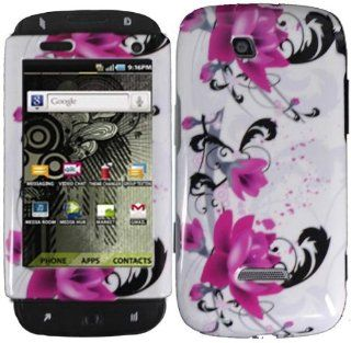 Purple Lily Hard Case Cover for Samsung Sidekick 4G T839 Cell Phones & Accessories
