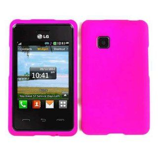 LG 840G Hot Pink Case Cover Snap New Hard Housing Protector Faceplate Cell Phones & Accessories