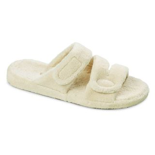 Acorn Spa Fit Womens Z Strap Slippers   Natural   Womens Slippers