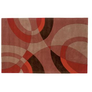 Dynamic Rugs Nolita Collection Handmade Wool Hearth Rug Burnt Orange Sandstorm   Hearth Rugs