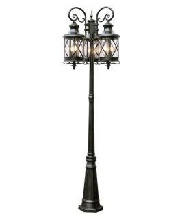 Trans Globe 5127 ROB Pole Lantern   Rubbed Oil Bronze   21W in.   Outdoor Post Lighting