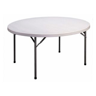 Correll 60 in. Round Blow Molded Folding Banquet Table   Banquet Tables