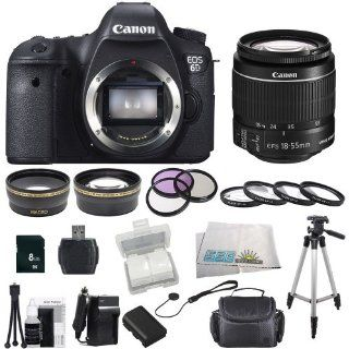 Canon EOS 60D DSLR Camera Bundle Kit with SSE Essentials Package Featuring Canon EF S 18 55mm f/3.5 5.6 IS II also Includes 0.43x Wide Angle Lens & 2.2x Telephoto HD Lens, 3 Piece Filter Kit & 4 Piece Macro Lens Kit, Extra LP E6 Replacement Batte
