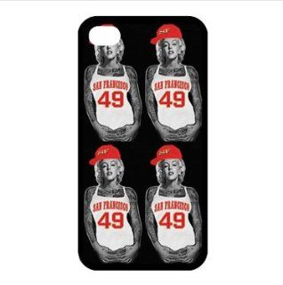 iPhone 4/4s Case   Best Marilyn Monroe NFL San Francisco 49ers Jersey TPU Cases Accessories for Apple iPhone 4/4s Cell Phones & Accessories