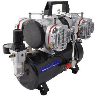 Airbrush Depot Model TC 848, High Performance Four Cylinder Piston Air Compressor with Tank (Features Air Pressure Regulator with Gauge and Water Trap Filter)