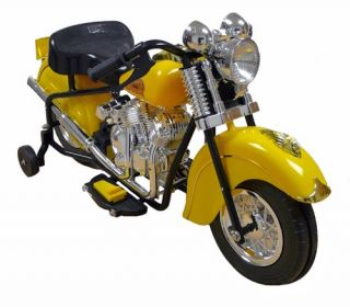 FeeNix Indian Motorcycle Battery Powered Riding Toy   Yellow   Battery Powered Riding Toys
