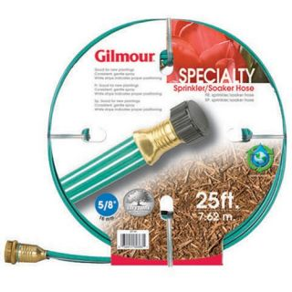 Gilmour 3 Tube Soaker/Sprinkler with Double Couplings Garden Hose   Watering