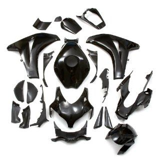 LPUSA Body Doubles Complete Fairing Kit Honda CBR1000RR 2008 2010 BLACK   21 piece Automotive
